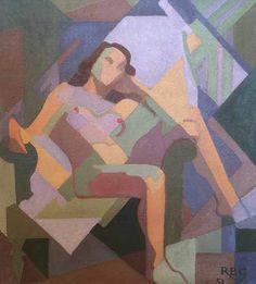 "Rose Brigid Ganly, HRHA - ""Female Nude - Oil on canvas laid on board, x Irish Art, Figure Painting, Surrealism, Oil On Canvas, Art Projects, Mona Lisa, Art Gallery, Auction, Nude"