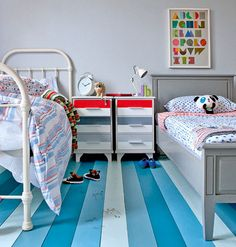 Floorboard in kid's bedroom