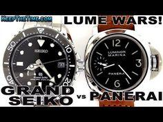 LUME WARS! Panerai PAM111 vs Grand Seiko Air Diver's SBGA029 (Spring Drive)