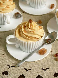 Espresso Caramel Cupcakes with Caramel Milk Swiss Meringue Buttercream