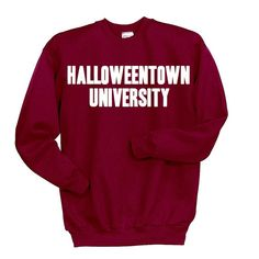 Halloweentown University Sweatshirt, Disney Halloween Shirt, Funny Halloween Clothing, Tumblr Sweatshirt, Witches Skeletons Brooms Costume