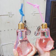 Image about pink in Fᴏᴏᴅ&Dʀɪɴᴋs by Food Angel Plastic Drink Bottles, Cute Water Bottles, Fun Drinks, Healthy Drinks, Kawaii Room, Cute Cups, Cute Desserts, Fancy, Cafe Food