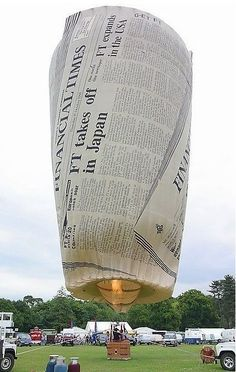 Creative newspaper hot air balloon