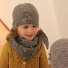 Knitting pattern for hat and wool scarf by Lamana - Knitting and Crochet How To Start Knitting, Knitting For Kids, Easy Knitting, Baby Knitting Patterns, Knitting Blogs, Dou Dou, Knitting Magazine, Wool Scarf, Knitted Hats