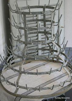 French Zinc Bottle Drying Rack by SundayBrocantes on Etsy, via Etsy.