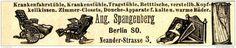 Original-Werbung/ Anzeige 1897 - KRANKENFAHRSTÜHLE - SPANGENBERG - BERLIN - ca. 90 x 25 mm