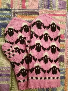 Diy Crochet And Knitting, Knitting Charts, Knitting For Kids, Double Knitting, Knitting Socks, Knitting Patterns, Knitted Mittens Pattern, Crochet Mittens, Knitted Gloves