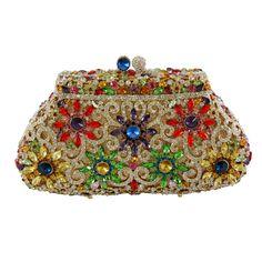 Manisha Arora Vivida Crystal Clutch Bag