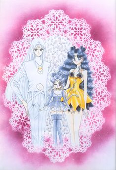 Family Cat Moon Sailor Moon - Artbook Vol. Sailor Moon Crystal, Cristal Sailor Moon, Sailor Moon Stars, Sailor Moon Fan Art, Sailor Moon Manga, Sailor Uranus, Sailor Mars, Gekkan Shoujo, Fanart