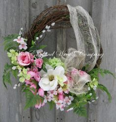 Spring Wreath Easter Wreath  Spring Floral by NewEnglandWreath, $179.00