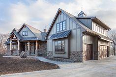 Best House Plans, Dream House Plans, House Floor Plans, My Dream Home, Mountain Home Exterior, Dream House Exterior, Home Design Floor Plans, Farmhouse Plans, Modern Farmhouse