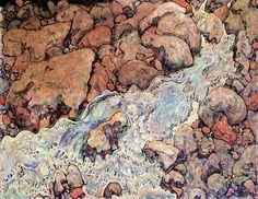dappledwithshadow:  Egon SchieleMountain Torrent1918