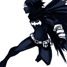 Cassandra Cain, the Blackbat. Something quick with a few light alterations to the costume (such as the lack of pointy mask and Batlogo belt buckle).
