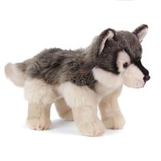 You can't keep a real wolf in your bedroom. That's a problem but don't worry, we have a solution. The Lifelike Wolf Stuffed Animal by Nat and Jules! Wolf Stuffed Animal, Cute Stuffed Animals, Pet Wolf, Wolf Plush, Snow Tiger, Little Live Pets, Mermaid Room, Build A Bear, Bear Toy