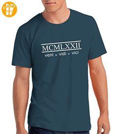""""""" Veni, Vidi, Vici 1972"""" - Herren T-Shirt als Geschenk zum 45. Geburtstag mit Geburtsjahr in Römischen Zahle (*Partner-Link)"""