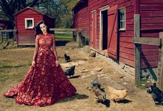 Katy Perry, Vogue  Don;t know where I'd wear it but it is beautiful :)