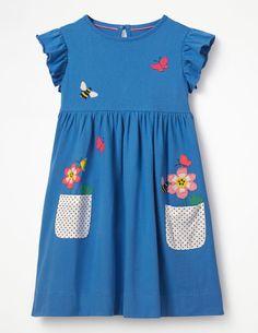 Boden Applique Pocket Dress Little too