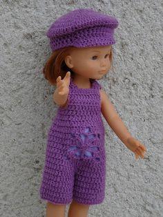 Fiche vêtement de poupée: short et casquette