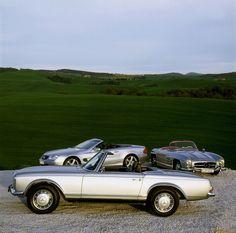 Mercedes-Benz SL Roadster Generations (W113 + R230 + W198)