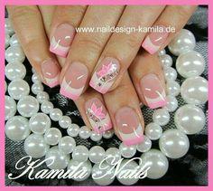 Pink & White tips ♡ Pink & White-Tipps ♡ Pretty Nail Art, Beautiful Nail Art, Gorgeous Nails, Spring Nails, Summer Nails, French Nail Art, Easter Nails, Nagel Gel, Gel Nail Designs