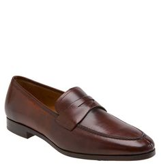 Mezlan 'Bradley II' Loafer; a contemporary shaped loafer with that burnished color to die for.