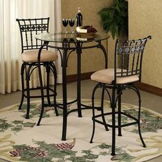 Beautiful Wrought Iron Bar Table