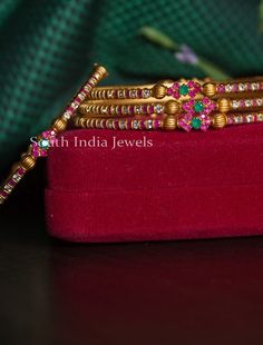 Beautiful Flower Designs, Unique Flowers, Ruby Bracelet, Bangle Bracelets, Plain Gold Bangles, Bridal Bangles, Imitation Jewelry, Gold Jewelry, Jewellery