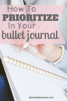 Learn a simple trick for prioritizing tasks in your bullet journal. Use your bullet journal to organize your life and increase productivity.