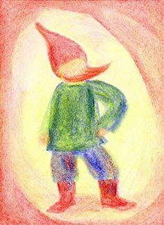 Coloring With Block Crayons, Gnome: Crayon Book, Crayon Art, Crayon Ideas, Blackboard Drawing, Chalkboard Drawings, Three Primary Colors, Crayon Drawings, Form Drawing, Color Crayons