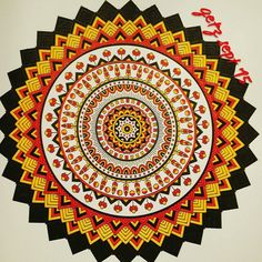 Nice mandala! By @gigglygetz2506  You create beauty with colors!