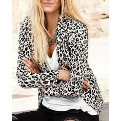 Elegant Lapel Neck Long Sleeve Leopard Print Jacket Blazer For Women Leopard Print Outfits, Leopard Blazer, Leopard Print Jacket, Animal Print Outfits, Animal Print Fashion, Fashion Prints, Animal Prints, Cheetah Print, Leopard Cardigan Outfit