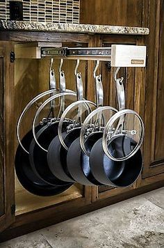 Cookware Organizer Rack with 7 Hooks pot pan hanging holder storage kitchen new