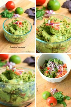 A simple, easy, fresh and delicious Homemade Guacamole!