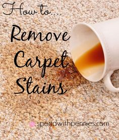 How to remove carpet stains.