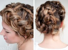 One big braid that has a beautiful crown look to it! Very vintage. #hairromance