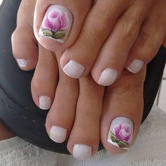 Unhas do Pé Decoradas 929, #unhasbonitas #UnhasDecoradasSimples #UnhasLindas, New Nail Art Design, Nail Art Designs, Claws, Ale, Flower, Nice Nails, Nail Arts, Pretty Nails, Gorgeous Nails