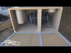 """6th Order Compound Loaded Isobaric Bandpass Box - 2 12"""" Woofers - YouTube"""