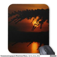 Sonnenuntergang in Montreux Mauspad Computer Mouse, Mousepad, Sunset, Simple, Nice Asses, Photo Illustration, Pc Mouse, Mice