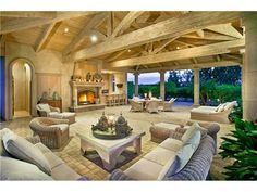 Great outdoor living area.  Size is impressive.