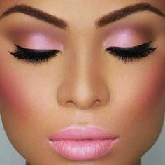 Always pretty in pink. #eyebrows #liner #pink #pinkmakeup #valentinesdaymakeup #valentinesday