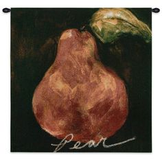 Fine Art Tapestries 'Red Pear' Wall Tapestry