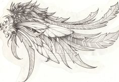 Beautiful wing.   (Wings of the marble angel by HollowCandy.deviantart.com on @deviantART)
