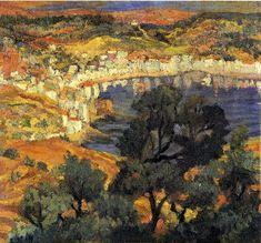 Dali-Cadaqués. ca. 1922. Oil on canvas. 31 x 34 cm. Kunstmuseum, Berne, Switzerland.