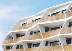 Zig-zag balconies for Ragnitzstrasse 36 apartment block in Graz Austria. Love Architecture  Urbanism