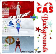 """Sims 4 CC's - The Best: CAS Backgrounds """"Christmas"""""""