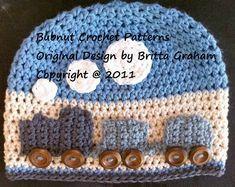 Easy Peasy Train Hat crochet pattern for boys No.109 Digital  ac4e04ccb42