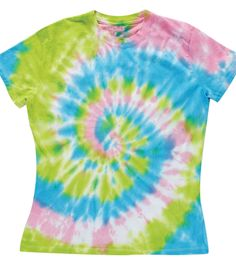 Easy spiral tie-dye technique! A fun project for the kids to make! #creativitymadesimple