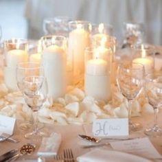 bougies hautes pour centre de table mariage