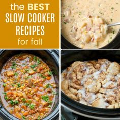 The Best Slow Cooker Recipes for Fall bring you comfort food from your crockpot, from hearty meals and snacks to drinks and desserts with autumn flavors. Best Crockpot Recipes, Fall Recipes, Slow Cooker Recipes, Soup Recipes, Snack Recipes, Cooking Recipes, Slow Cooking, Snacks, Best Slow Cooker
