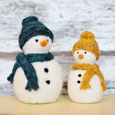 Snowman Needle Felting Kit | Felted Sky Studio